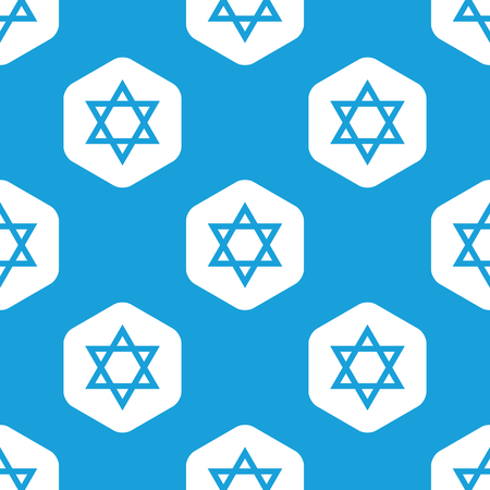 jews: Star of David hexagon pattern Illustration
