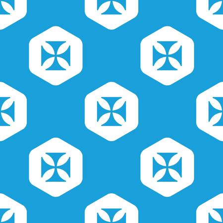 maltese: Maltese cross hexagon pattern