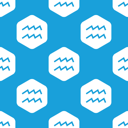 water bearer: Aquarius hexagon pattern Illustration