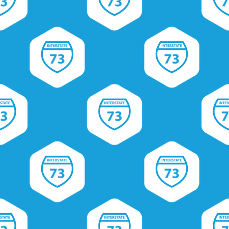 interstate: Interstate 73 hexagon pattern Illustration
