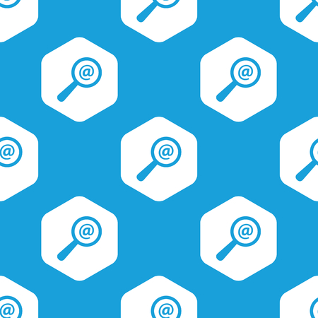 microblog: Mail search hexagon pattern