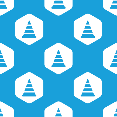 redirect: Traffic cone hexagon pattern Illustration