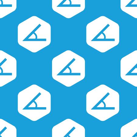Angle hexagon pattern Vector