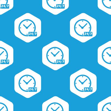 twenty four hours: Overnight daily hexagon pattern