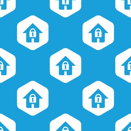 locked: Locked house hexagon pattern