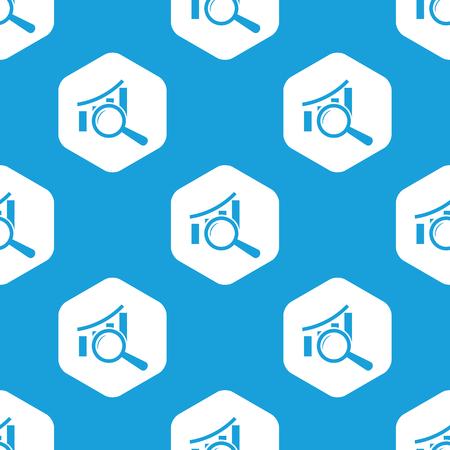 graphic: Graphic examination hexagon pattern