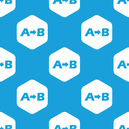 derivation: A to B hexagon pattern Illustration