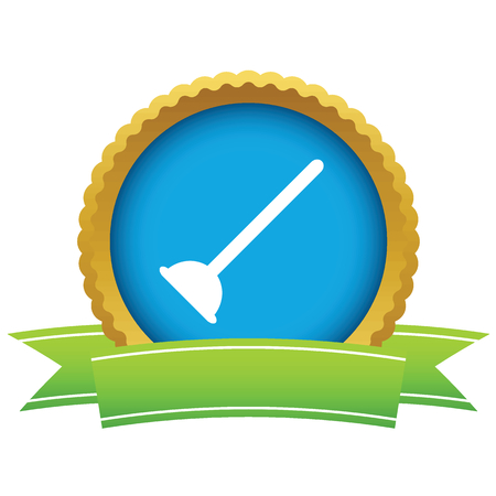 plunger: Plunger round icon Illustration