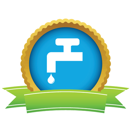 ooze: Watertap round icon