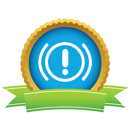 alert ribbon: Alert round icon Illustration
