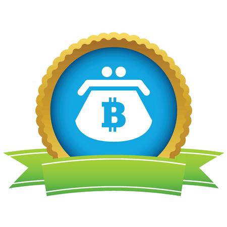 net trade: Bitcoin purse round icon