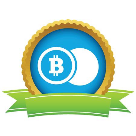 net trade: Bitcoin coin round icon Illustration