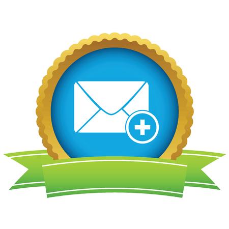 add: Add letter round icon Illustration