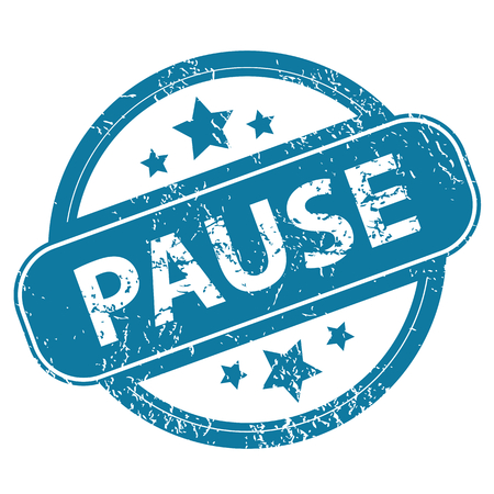 archive site: PAUSE round stamp