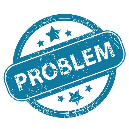 problem: PROBLEM round stamp Illustration