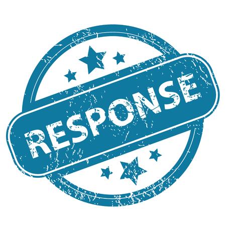 response: RESPONSE round stamp