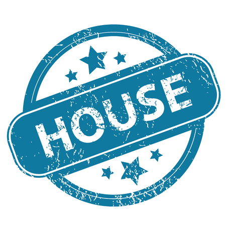 archive site: HOUSE round stamp Illustration