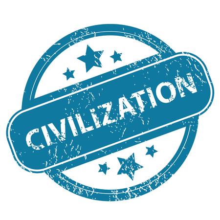 civilization: CIVILIZATION round stamp Illustration