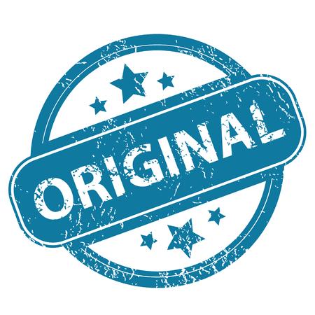 original: ORIGINAL round stamp Illustration