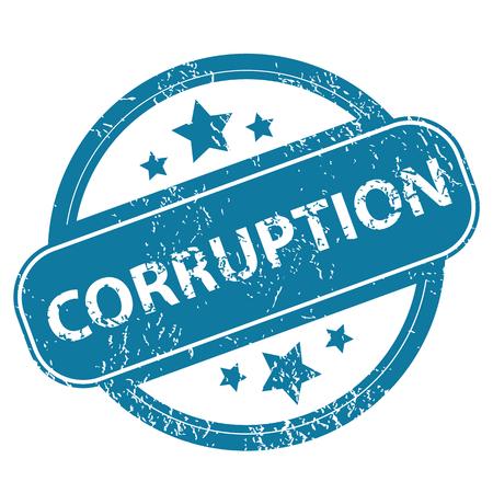 corruption: CORRUPTION round stamp