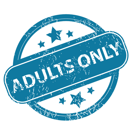 adults: ADULTS ONLY round stamp