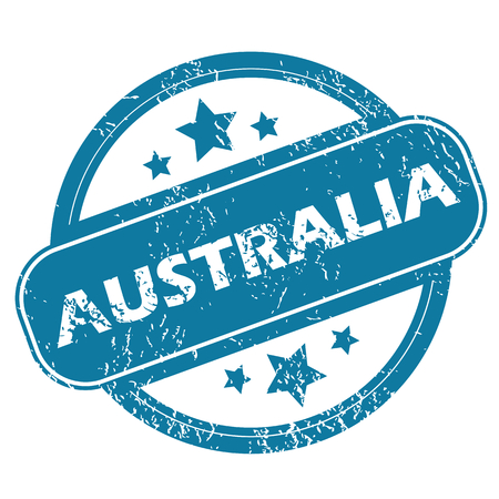 australia stamp: AUSTRALIA round stamp