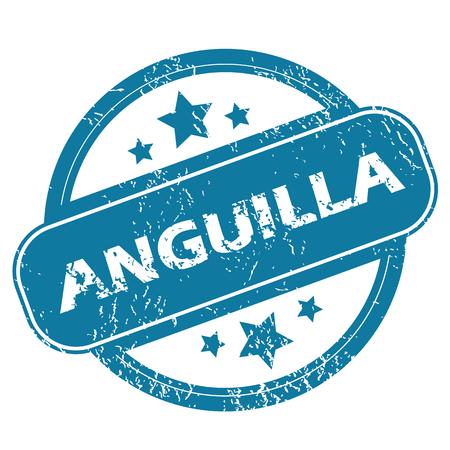anguilla: ANGUILLA round stamp