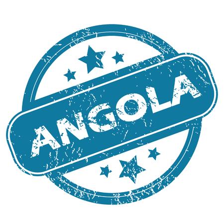 angola: ANGOLA round stamp Illustration