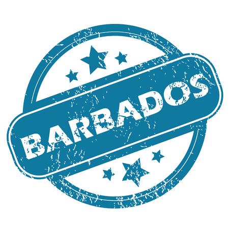 barbados: BARBADOS round stamp