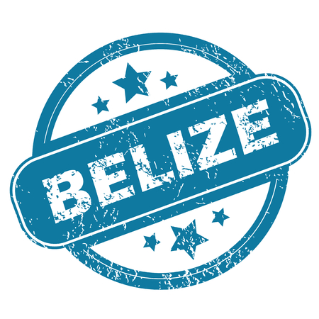 belize: BELIZE round stamp Illustration