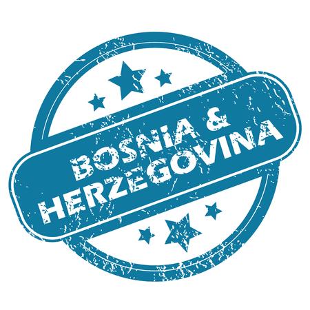 herzegovina: BOSNIA AND HERZEGOVINA round stamp Illustration