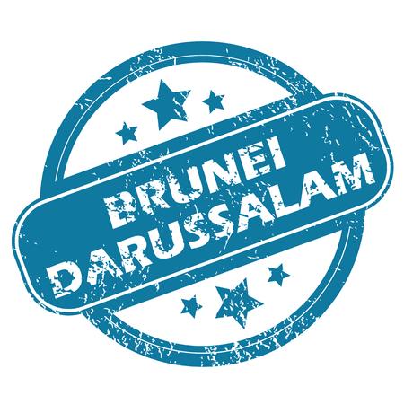 brunei darussalam: BRUNEI DARUSSALAM round stamp