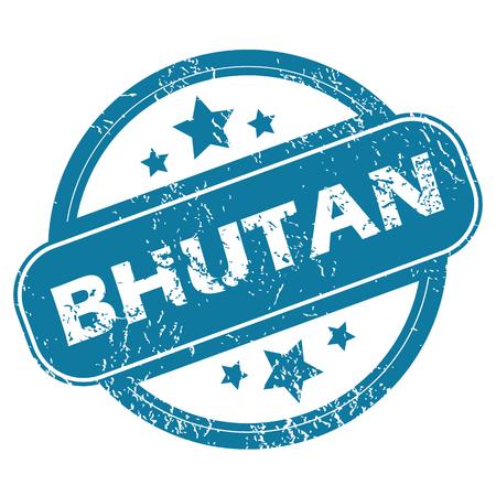 bhutan: BHUTAN round stamp