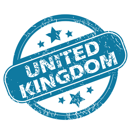 kingdom: UNITED KINGDOM round stamp Illustration