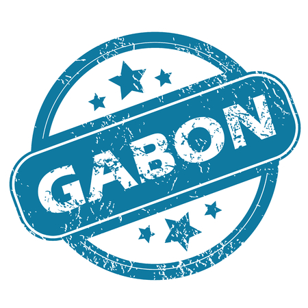 gabon: GABON round stamp Illustration