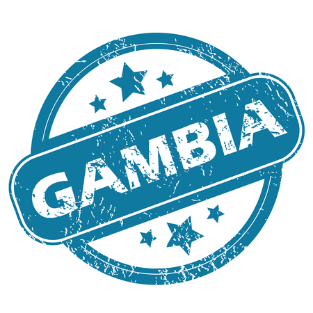 gambia: GAMBIA round stamp