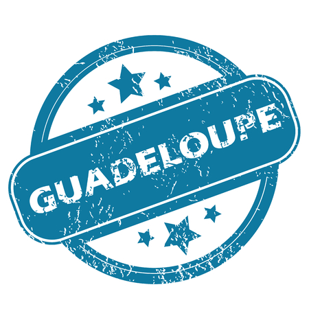 guadeloupe: GUADELOUPE round stamp