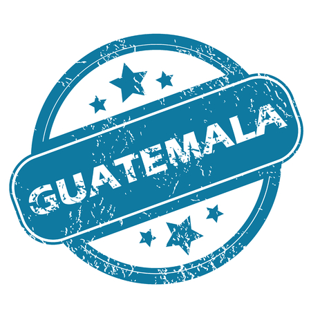 archive site: GUATEMALA round stamp Illustration