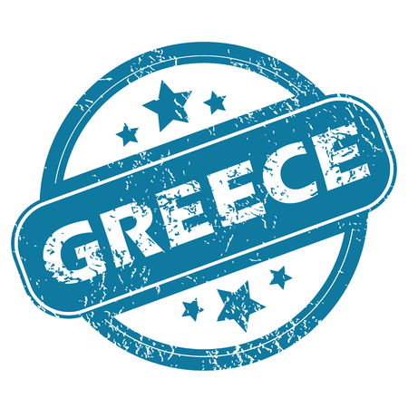 greece stamp: GREECE round stamp
