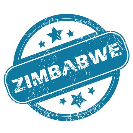 zimbabwe: ZIMBABWE round stamp