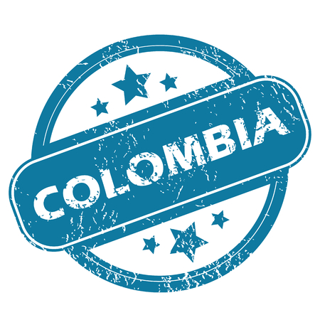 colombia: COLOMBIA round stamp