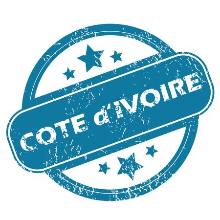 cote d ivoire: COTE D IVOIRE round stamp