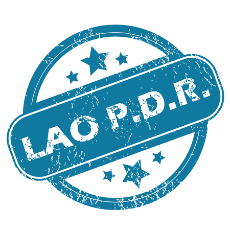 lao: LAO PDR round stamp Illustration