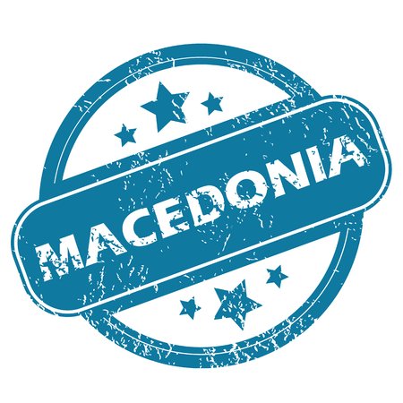 macedonia: MACEDONIA round stamp Illustration