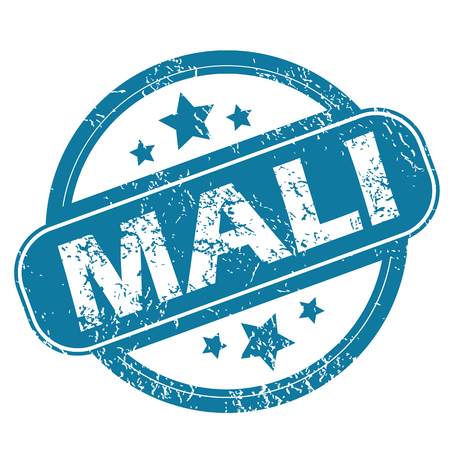 archive site: MALI round stamp Illustration