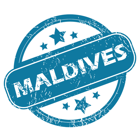 archive site: MALDIVES round stamp Illustration