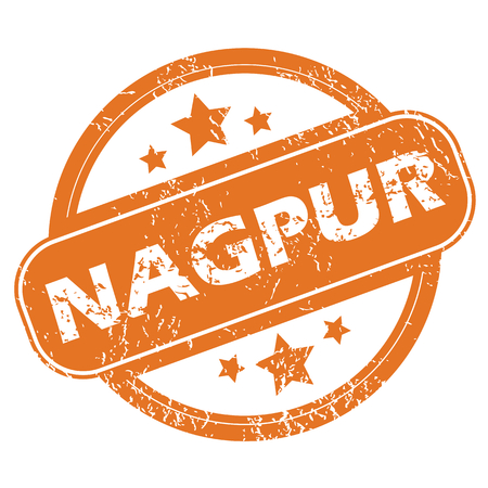 nagpur: Round rubber stamp with city name Nagpur and stars, isolated on white