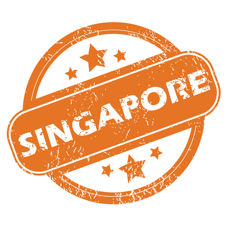 archive site: Singapore round stamp Illustration