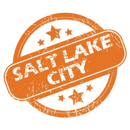 salt lake city: Salt Lake City round stamp Illustration