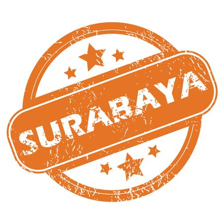 archive site: Surabaya round stamp Illustration